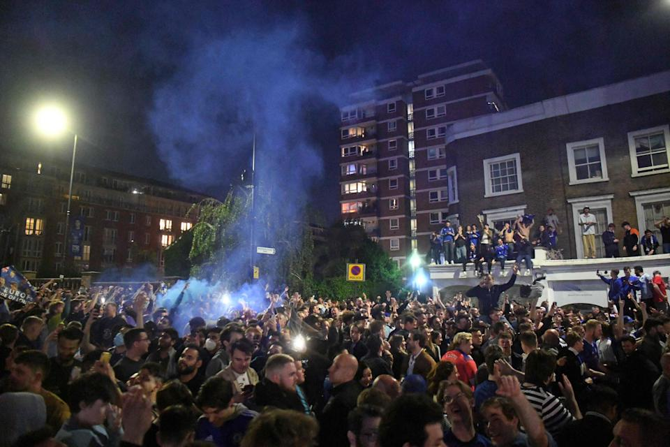 The party went on late into the night in west London (AFP via Getty Images)