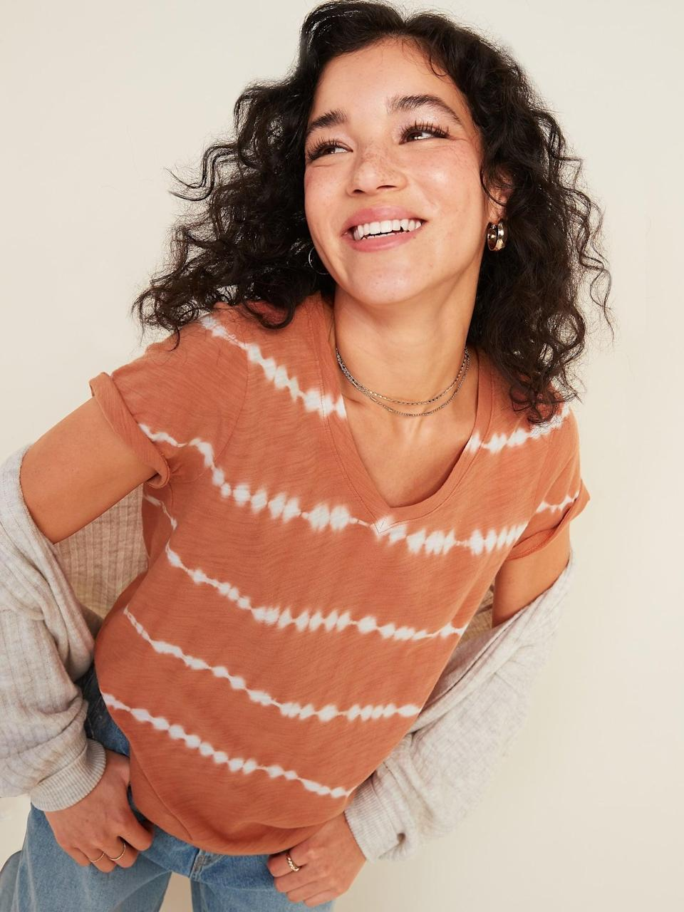 <p>Who doesn't love a casual and cool <span>Printed V-Neck Tee</span> ($8, originally $15)?</p>
