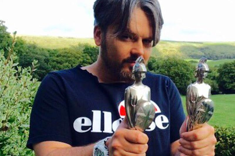 Up for grabs: Paul Cattermole with his BRIT Awards: Twitter/ Paul Cattermole