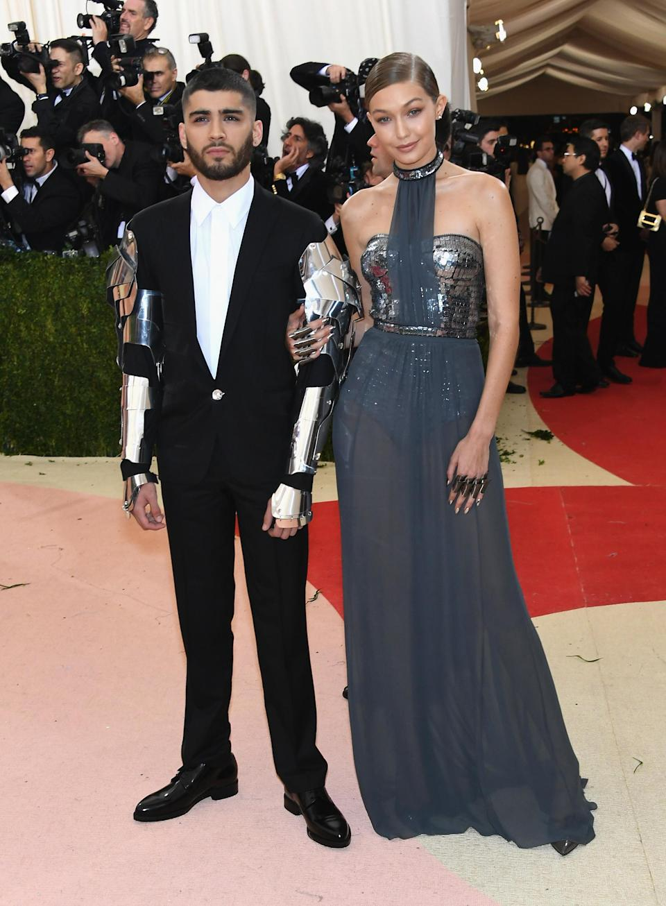 <p>On May 2 2016, Gigi Hadid and former boyfriend Zayn Malik made their red carpet debut at the star-studded Met Gala ceremony. In keeping with the theme of 'Manus x Machina: Fashion In An Age Of Technology', the supermodel donned a custom Tommy Hilfiger gown while Zayn opted for bionic-inspired arms. But the most expensive aspect to their look? Gigi's manicure.<br><br>According to KISS Nails, the manicure they gave the 23-year-old cost a grand total of £1,745. Her nail artist, Mary Soul, added three crystals beneath each nail. Now that's what you call dedication. <em>[Photo: Getty]</em> </p>