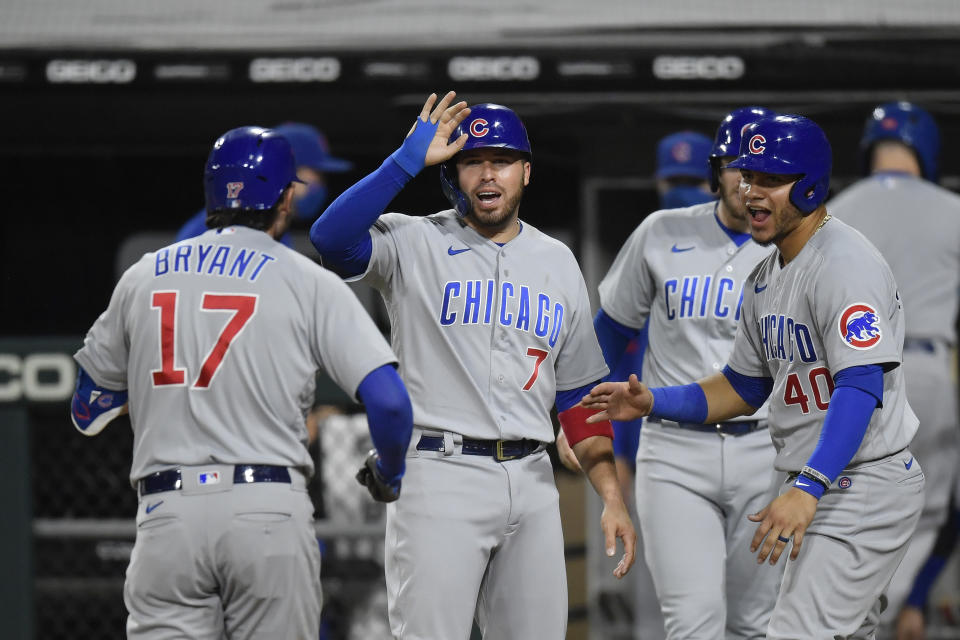 The Chicago Cubs have clinched their first NL Central since 2017. (Photo by Quinn Harris/Getty Images)