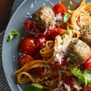 <p>You can make fresh tomato sauce in just a little more time than it takes to cook pasta when you follow this easy recipe--and the pop of fresh tomatoes and red bell pepper makes it well worth your time. Serve this healthy pasta dish topped with cheese and fresh herbs for a simple vegetarian meal or add turkey meatballs for a heartier dinner.</p>