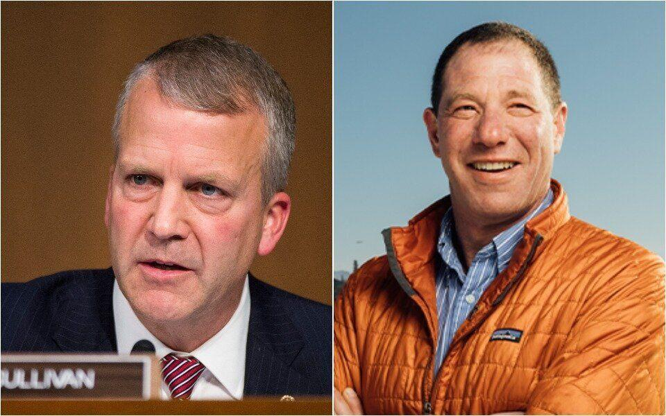 Mine executives said they were counting on Sen. Dan Sullivan (R-Alaska), left, who is being by challenged by Dr. Al Gross, an independent, to remain silent about Pebble Mine. (Photo: Getty Images/Dr. Al Gross for Senate)