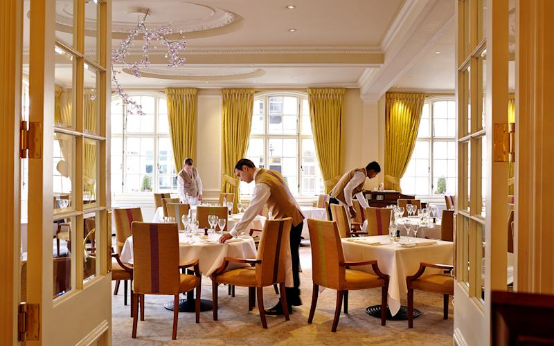 The Michelin-starred restaurant The Dining Room at The Goring Hotel is proud to serve award-winning British cuisine in the heart of London.