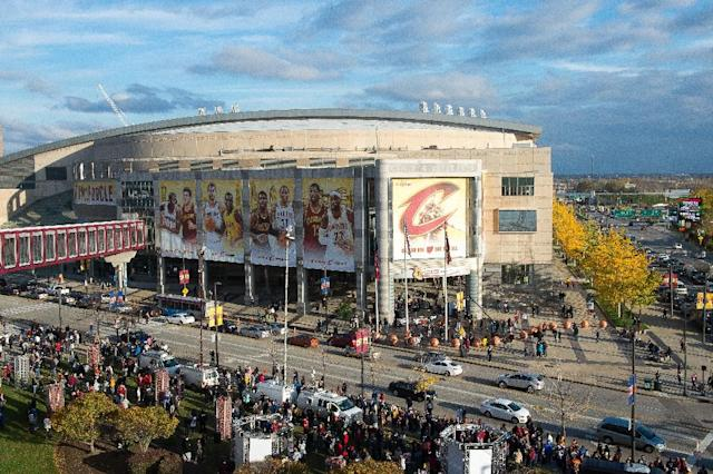A general view of Quicken Loans Arena is seen before a game on October 30, 2014 in Cleveland, Ohio (AFP Photo/Jason Miller)