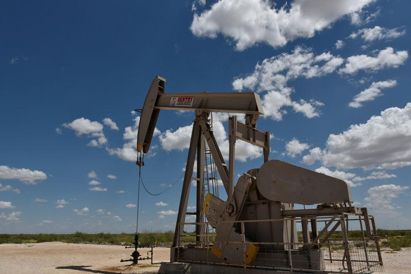 FILE PHOTO: A pump jack operates in the Permian Basin oil production area near Wink
