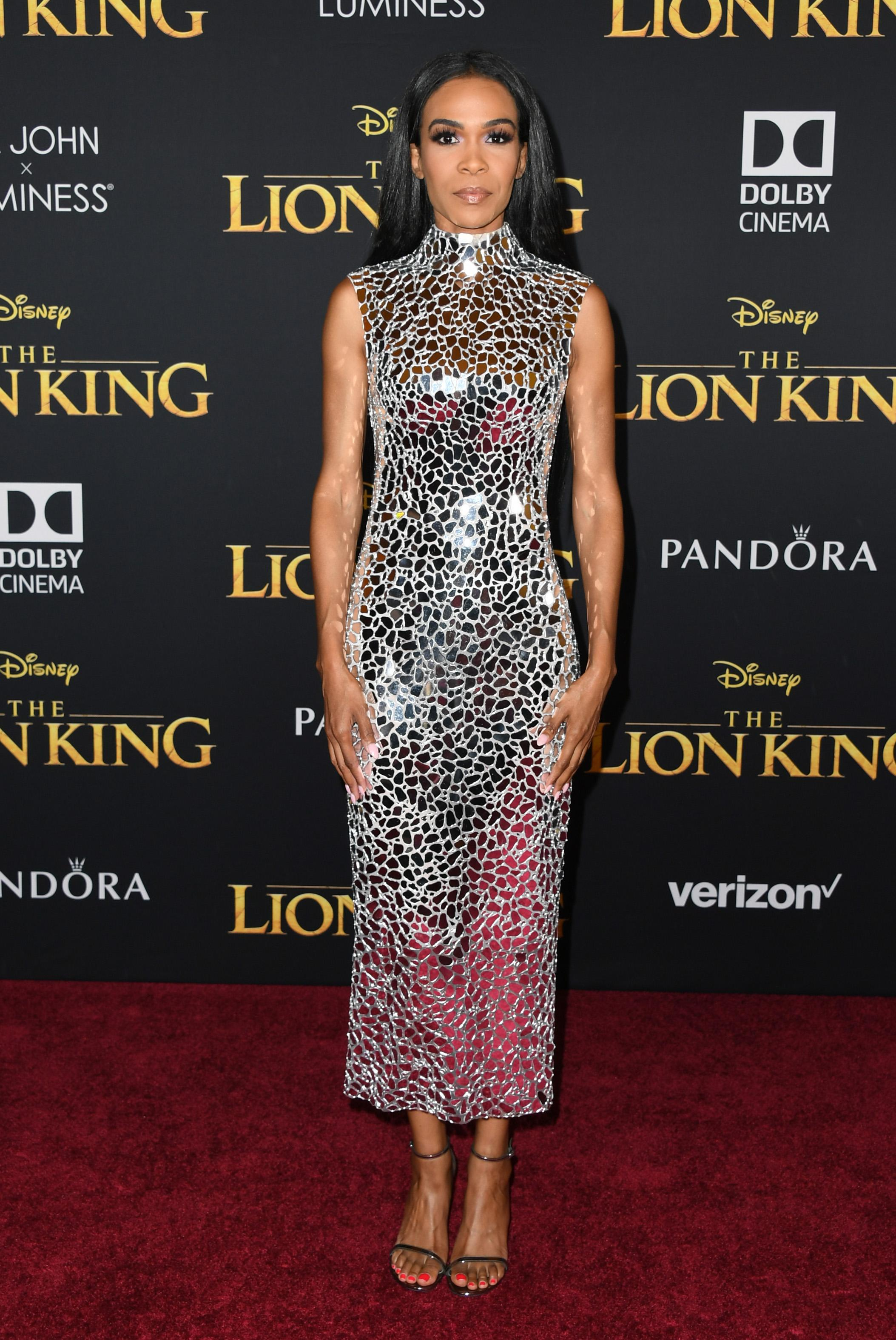 "HOLLYWOOD, CALIFORNIA - JULY 09: Michelle Williams attends the Premiere Of Disney's ""The Lion King"" at Dolby Theatre on July 09, 2019 in Hollywood, California. (Photo by Jon Kopaloff/FilmMagic)"
