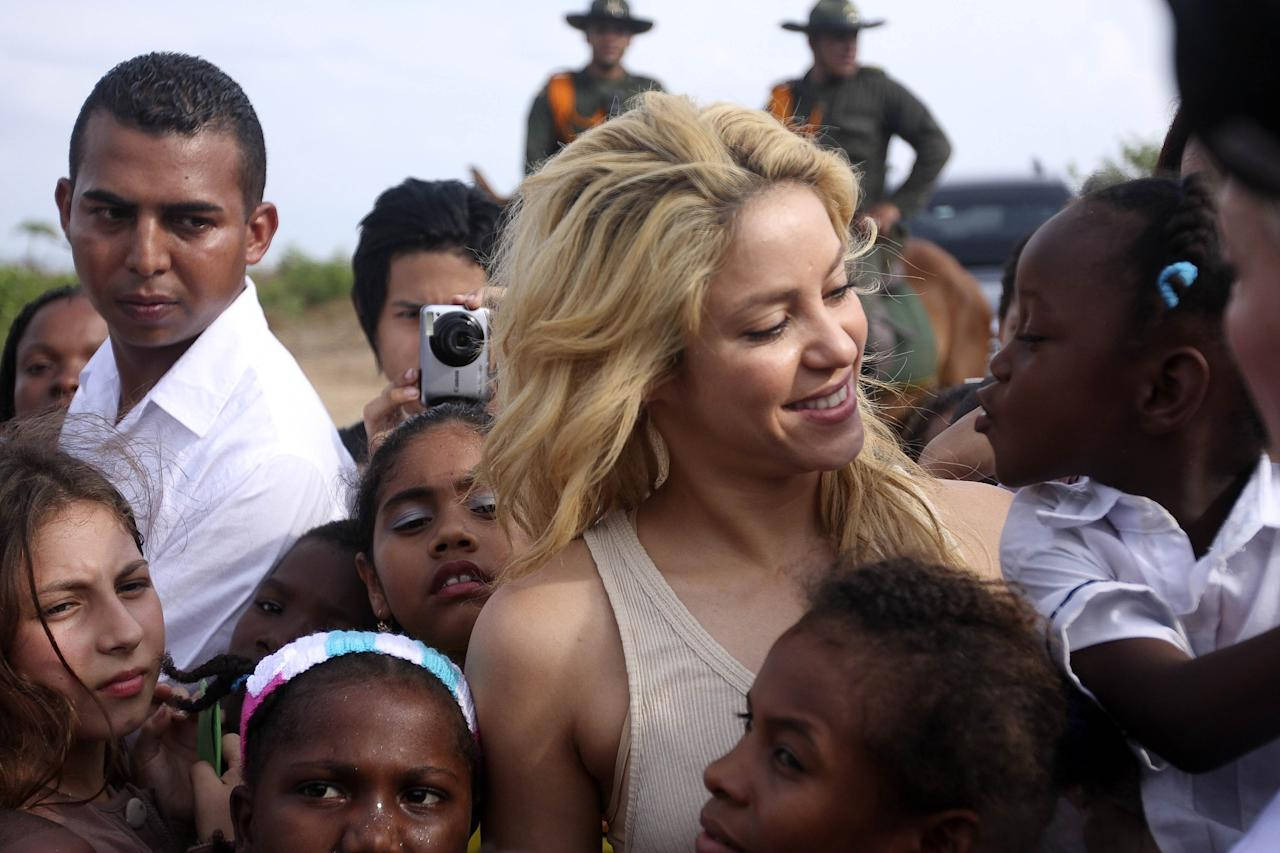 """<p>Colombian singer Shakira, who is a UNICEF Goodwill Ambassador, has used her platform to help improve the lives of children. Her foundation """"Pies Descalzos"""" [Barefoot] has helped build schools in her native country ane ensure that undeprivileged children have access to education and nutrition.  """"All I have to do is close my eyes and I can imagine their faces. I know that each child has a name, a heart, a dream; I know that their lives are just as valuable as yours or mine. Yet many of these children die every day in total abandonment,"""" Shakira has said. </p>"""