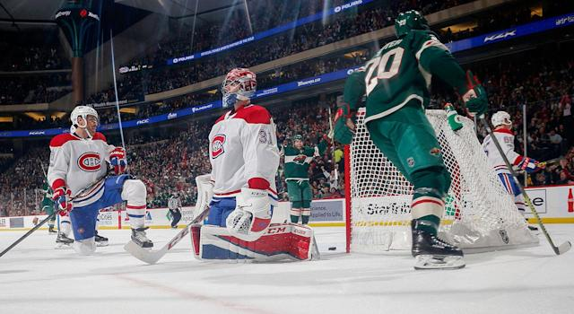 """<a class=""""link rapid-noclick-resp"""" href=""""/nhl/players/3782/"""" data-ylk=""""slk:Carey Price"""">Carey Price</a>'s contract could spell trouble for the Canadiens. (Bruce Kluckhohn/NHLI via Getty Images)"""