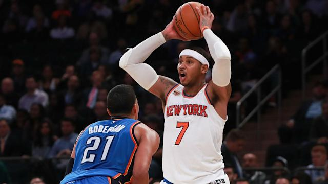 The Knicks finally traded Carmelo Anthony, sending the 10-time All-Star to the Thunder in a blockbuster deal Saturday.