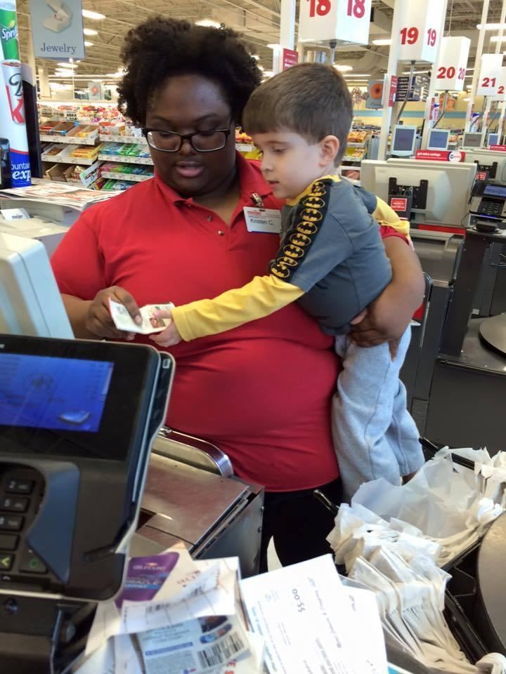 Meijer Cashier's Kind Gesture to 3-Year-Old Caught on Camera
