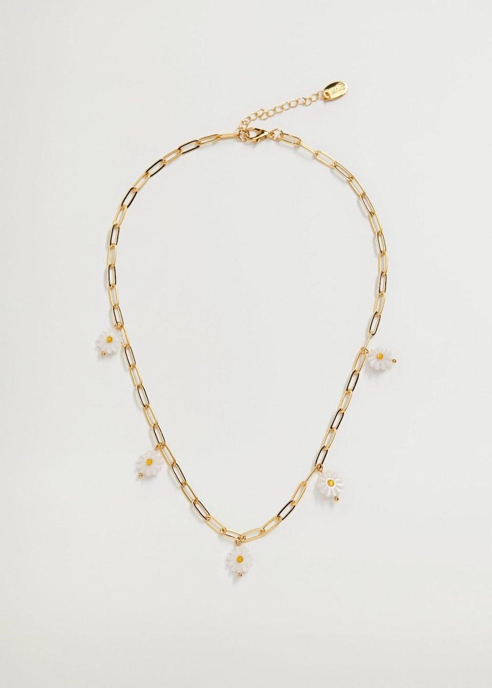 <p>This <span>Mango Flower Link Necklace</span> ($30) is a great pick for spring.</p>
