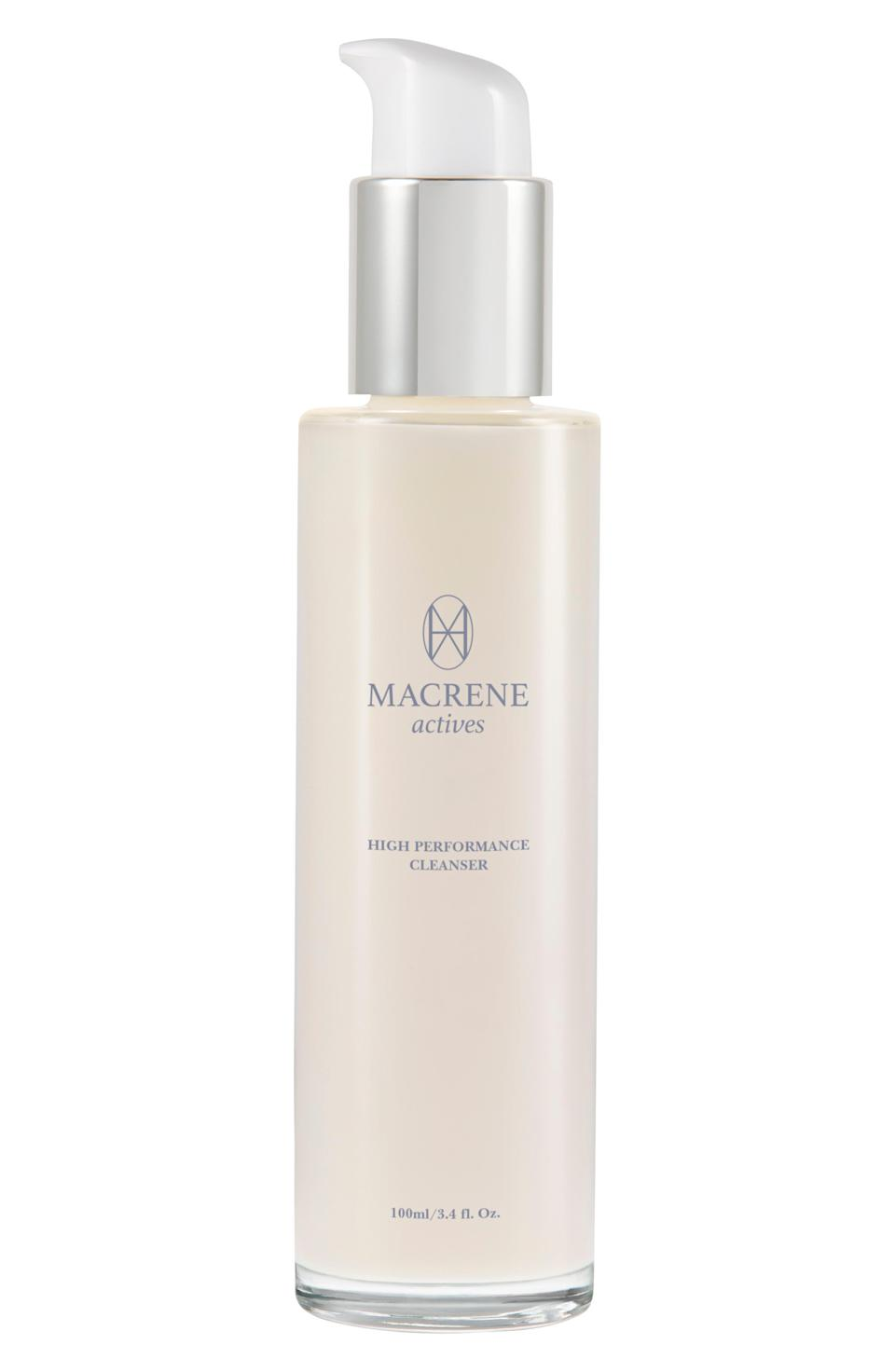 """<p><strong>Macrene Actives</strong></p><p>nordstrom.com</p><p><strong>$95.00</strong></p><p><a href=""""https://go.redirectingat.com?id=74968X1596630&url=https%3A%2F%2Fwww.nordstrom.com%2Fs%2Fmacrene-actives-high-performance-cleansing-treatment%2F5773348&sref=https%3A%2F%2Fwww.townandcountrymag.com%2Fstyle%2Ffashion-trends%2Fg37682006%2Fnicky-hilton-fall-favorites%2F"""" rel=""""nofollow noopener"""" target=""""_blank"""" data-ylk=""""slk:Shop Now"""" class=""""link rapid-noclick-resp"""">Shop Now</a></p><p>""""One of my other fall faves would be Macrene Actives High Performance Cleanser. During the colder months, I like to switch to a milky cleanser because foam cleansers can be quite dehydrating. It's just a great cleanser that firms, tones, smooths. Love it.""""</p>"""