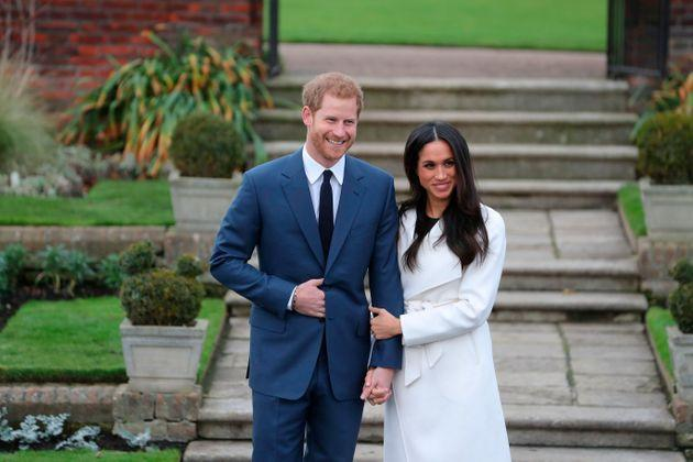Prince Harry and Meghan Markle announce their engagement (Photo: DANIEL LEAL-OLIVAS via Getty Images)