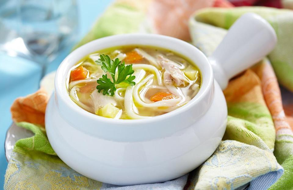 """<p>Soup is hot and hard to eat when you're standing around talking with friends and family. Save all those scrumptious soup and stew recipes for <a href=""""https://www.thedailymeal.com/dishes-made-from-freezer-gallery?referrer=yahoo&category=beauty_food&include_utm=1&utm_medium=referral&utm_source=yahoo&utm_campaign=feed"""" rel=""""nofollow noopener"""" target=""""_blank"""" data-ylk=""""slk:indoor weeknight dinners"""" class=""""link rapid-noclick-resp"""">indoor weeknight dinners</a> instead.</p>"""