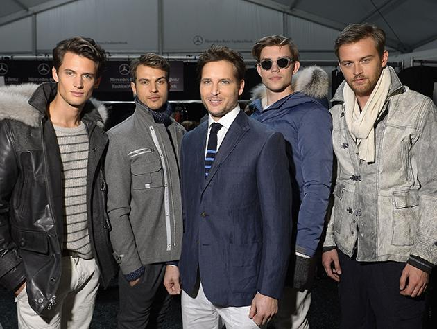 <b>Peter Facinelli and Models at Nautica Mens</b><br>The models at this fashion show were so handsome, that all the fashionistas at the show left talking about how they barely noticed the clothes. As you can see, the Papa Cullen fit in just fine. (2/8/13)