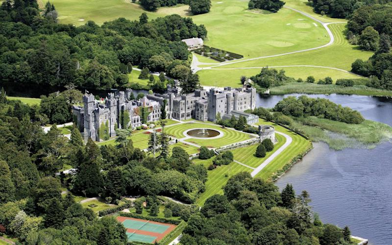 Ashford Castle in Co Mayo - Credit: PA