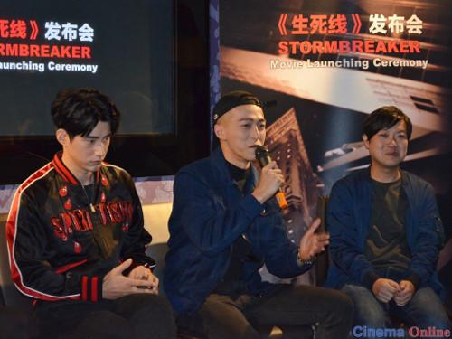 "(L-R) Jarvis Wu, Tosh Zhang and Michael Chuah discussed working on ""Stormbreaker"" during the press conference."