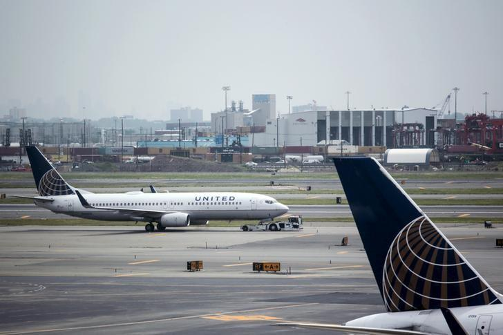 File photo of United Airlines planes seen on platform at the Newark Liberty International Airport in New Jersey