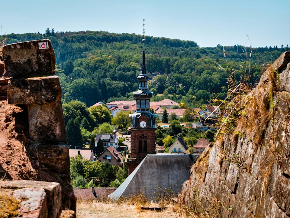 August 7th 2020: Bitche, France. Fortress Bitche. The citadel with impregnable bastions is located on a high mountain in Alsace.