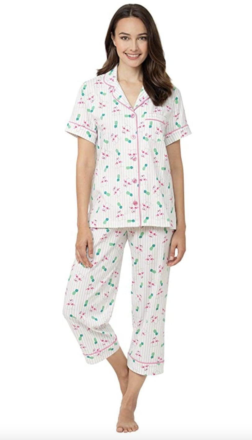 <p>This <span>PajamaGram Cotton Pajama Set</span> ($48) makes lounging that much more stylish, thanks to its playful, summery print. It's a top-rated consumer pick, and reviewers praise the comfortable cotton fabric (perfect for warm weather) and the relaxed fit.</p>