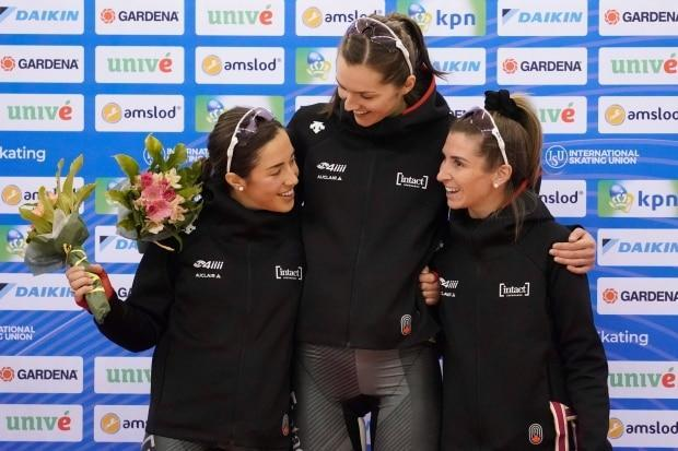 Canadian speed skaters win World Cup silver in women's team pursuit
