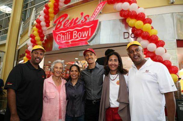 PHOTO: A family photo was taken at the Reagan Airport location's grand opening. (Ben's Chili Bowl)