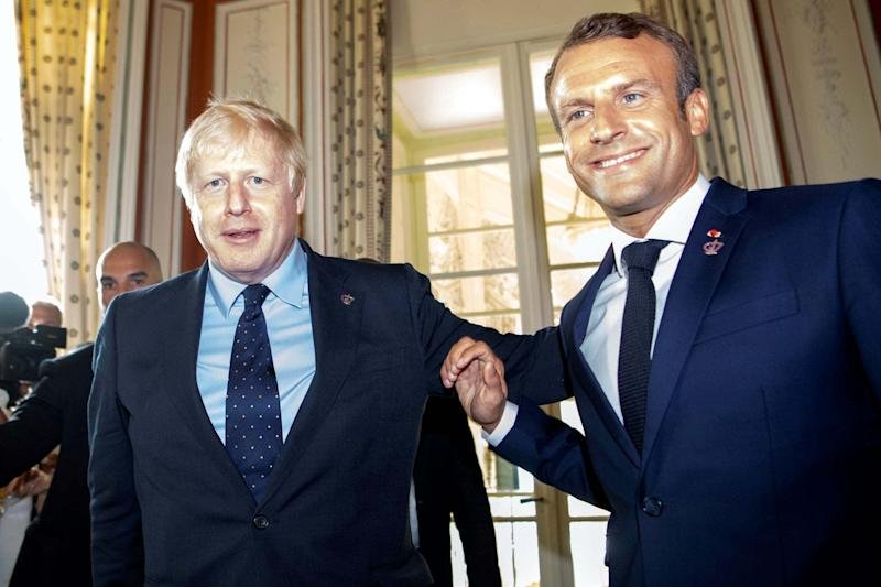 Prime Minister Boris Johnson and French President Emmanuel Macron discussed the PM's proposed Brexit deal at the weekend (REUTERS)