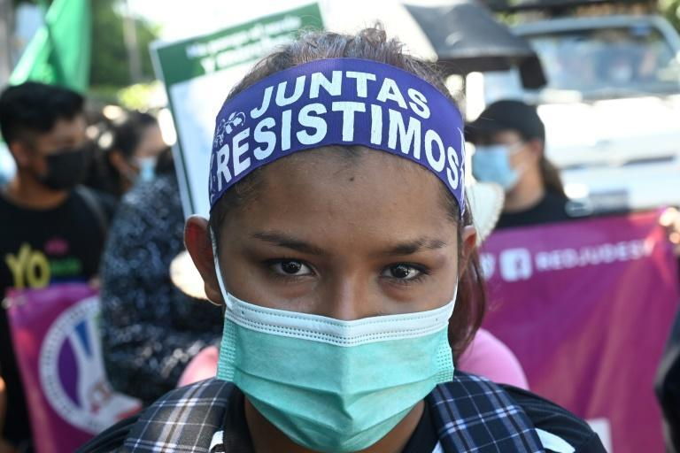 """In El Salvador, where abortion is banned in all cases, women seeking the procedure can face up to eight years in prison for """"aggravated homicide"""" (AFP/MARVIN RECINOS)"""