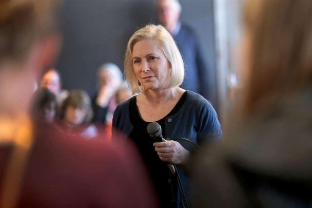 PHOTO: Sen. Kirsten Gillibrand speaks to guests during a campaign stop, March 19, 2019, in Dubuque, Iowa. (Scott Olson/Getty Images)