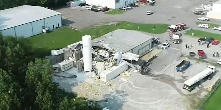 Image: Dippin' Dots Plant explosion (WPSD)