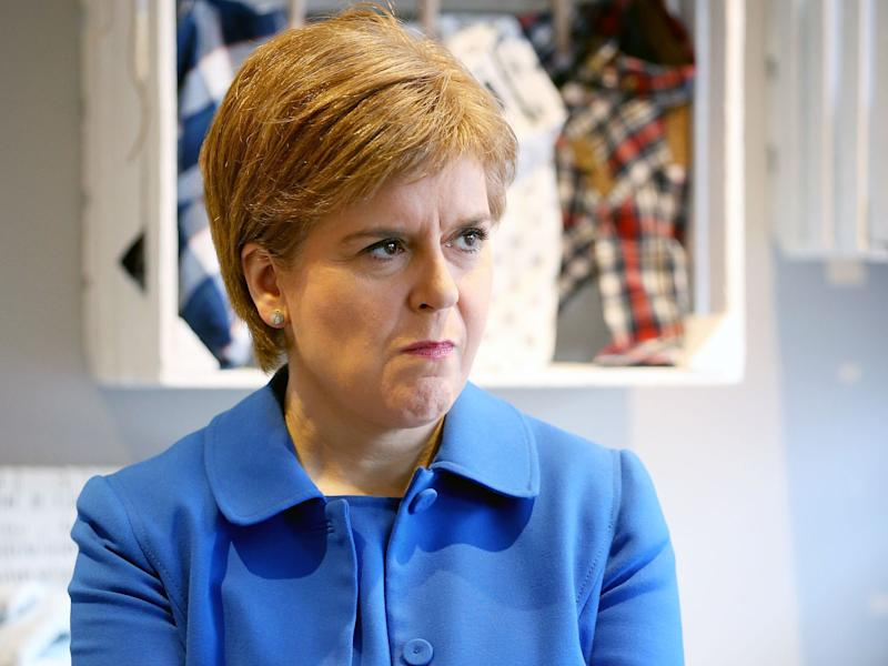 The First Minister says Scotland should be offered a choice between independence and Theresa May's plan: PA