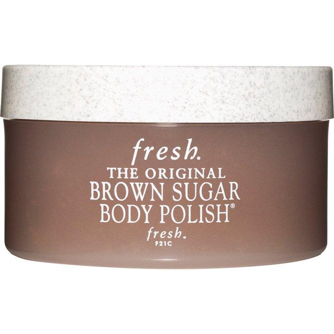 "This gentle moisturizing scrub treatment for your body is made with the perfect blend of pure brown sugar and some of the world's finest oils. It's fresh lemon scent restores and brightens while delivering antibacterial properties to your body for the sweetest scrub around.  <em>Fresh Brown Sugar Body Polish, $67 at <a rel=""nofollow"" href=""http://www.sephora.com/brown-sugar-body-polish-P7844?SKUID=446609"">Sephora</a></em>"