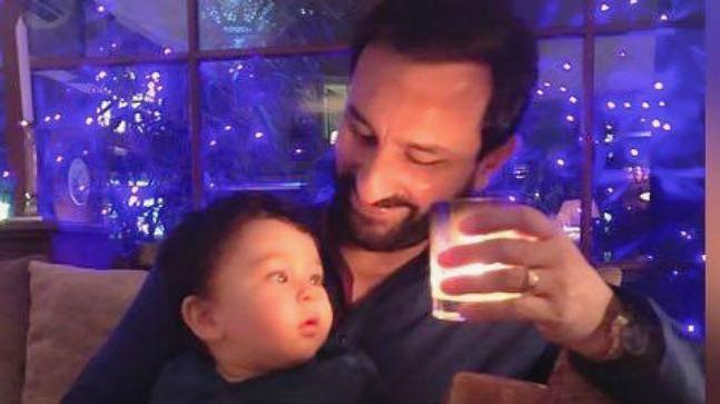 Taimur Ali Khan was ecstatic, as his father Saif, returned from shooting in Rajasthan. A few photos of the father-son duo have surfaced online.