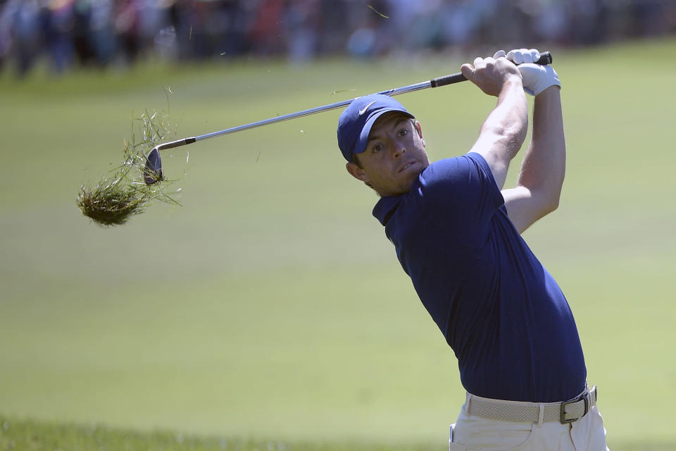 Rory McIlroy, of Northern Ireland, hits from the first fairway during the first round of the Arnold Palmer Invitational golf tournament Thursday, March 7, 2019, in Orlando, Fla. (AP Photo/Phelan M. Ebenhack)