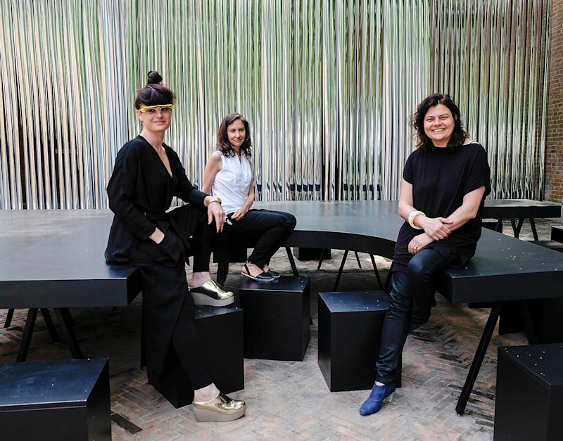 Eva Franch i Gilaber, Ashley Schafer and Ana Miljacki during the press preview of the 2014 Venice Biennale Architecture (Getty Images)
