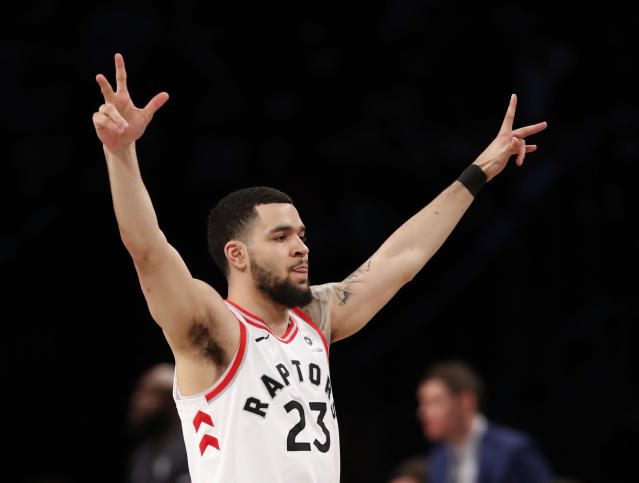 The Raptors outscored the Nets by 31 points in Fred VanVleet's 28 minutes of floor time. This is no longer a surprise. (AP)