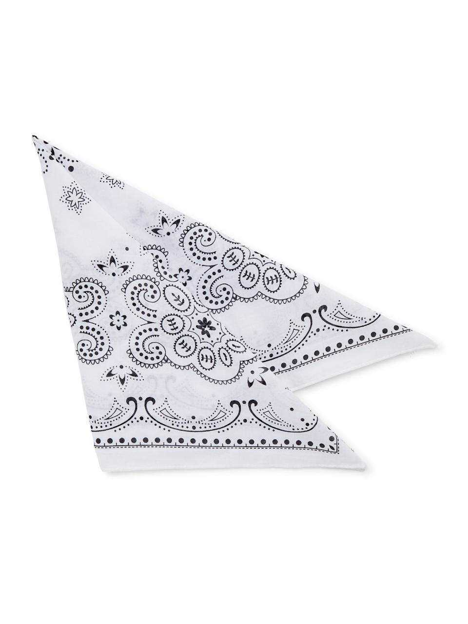 """<br><br><strong>Time and Tru</strong> Western Star Bandana, $, available at <a href=""""https://go.skimresources.com/?id=30283X879131&url=https%3A%2F%2Ffave.co%2F2yHiEId"""" rel=""""nofollow noopener"""" target=""""_blank"""" data-ylk=""""slk:Walmart"""" class=""""link rapid-noclick-resp"""">Walmart</a>"""