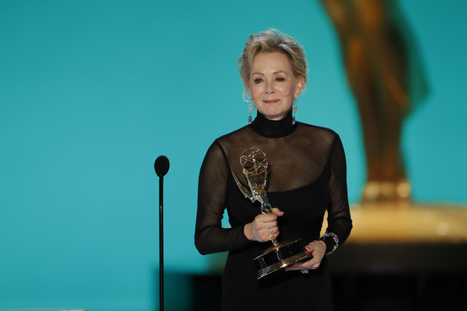 LOS ANGELES - SEPTEMBER 19: Jean Smart from 'Hacks' appears at the 73RD EMMY AWARDS, broadcast Sunday, Sept. 19 (8:00-11:00 PM, live ET/5:00-8:00 PM, live PT) on the CBS Television Network and available to stream live and on demand on Paramount+. (Photo by Cliff Lipson/CBS via Getty Images)
