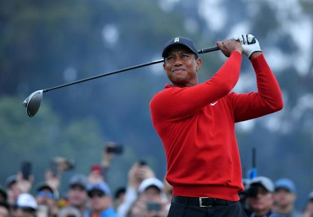 """Tiger Woods, seen here teeing off on the 18th hole at Torrey Pines, says finding a solution to golf's ever-increasing hitting distance is """"a delicate balancing act"""" (AFP Photo/DONALD MIRALLE)"""