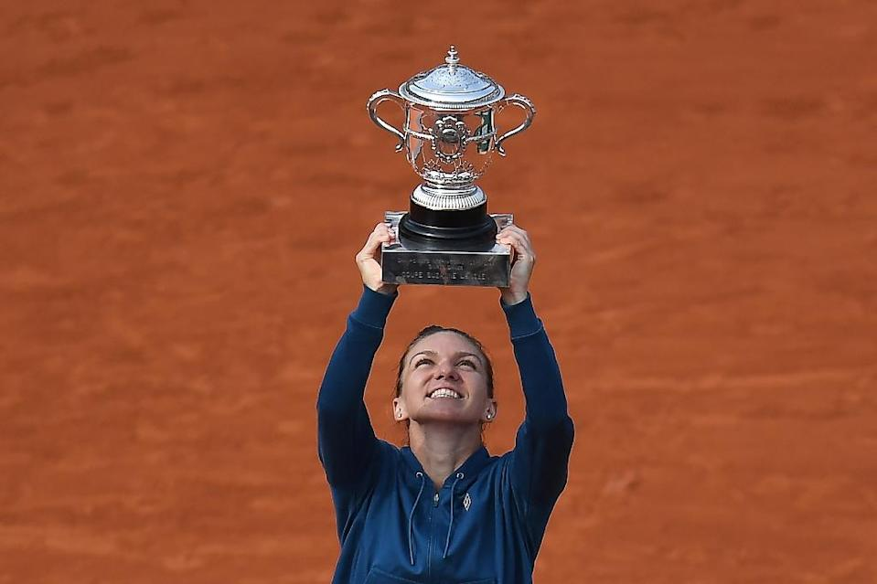 Fourth time lucky: Simona Halep's persistence pays off after losing her first three Grand Slam finals (AFP Photo/Christophe ARCHAMBAULT)