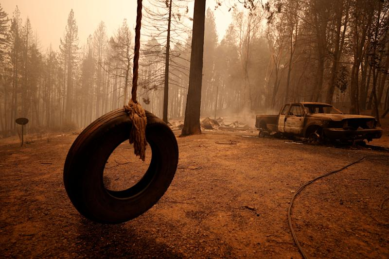 Devastation from the Bear fire in Berry Creek, California, is shown on Wednesday. (Photo: Fred Greaves / Reuters)