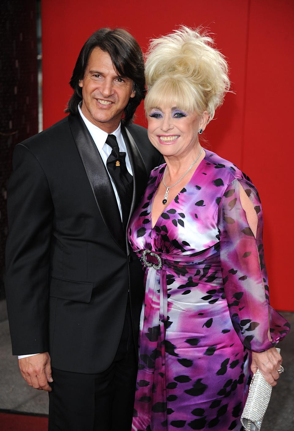 Barbara Windsor and husband Scott Mitchell arriving for the 2009 British Soap Awards at the BBC Television Centre, Wood Lane, London.