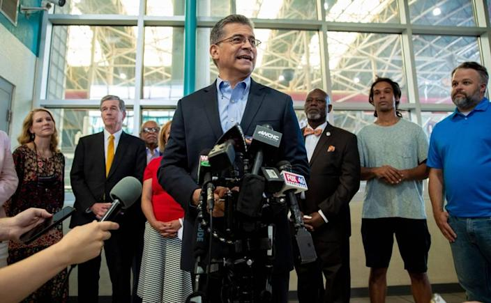 U.S. Department of Health and Human Services Secretary Xavier Becerra visited Charlotte Wednesday to encourage COVID-19 vaccinations.