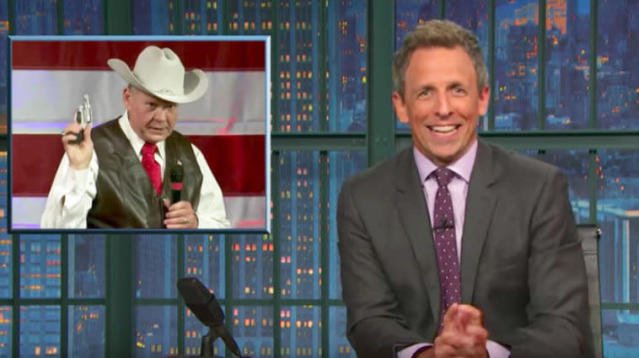Seth Meyers Mocks Roy Moore For Being A Racist, Homophobic Tool