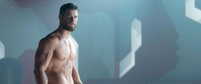 "<p>""Thor's workout"" might be the most Googled workout on the Internet. Chris Hemsworth's bulging biceps and basically 0% body fat could inspire pretty much anyone to get moving. Aside from sweat-inducing workouts, the Aussie also focuses on diet. ""Back then, I just ate huge steaks, chicken breasts and broccoli—and I didn't feel great,"" <a href=""https://www.menshealth.com/uk/fitness/a26810090/chris-hemsworth-workout-movies-thor/"" rel=""nofollow noopener"" target=""_blank"" data-ylk=""slk:he told Men's Health"" class=""link rapid-noclick-resp"">he told <em>Men's Health</em></a>. ""These days, I eat a lot more plant-based foods, and I feel much better.""</p>"