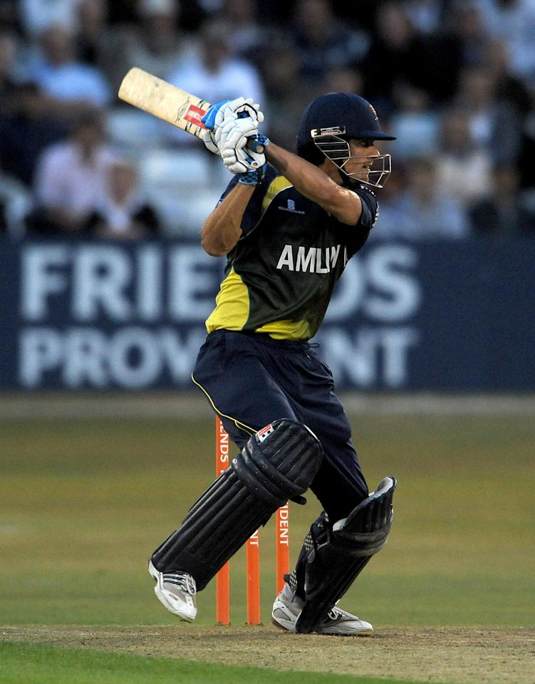 CHELMSFORD, ENGLAND - JULY 15:  Alastair Cook of Essex in action during the Friends Provident Twenty20 match between Essex and Gloucestershire at the Ford County Ground on July 15, 2010 in Chelmsford, England.  (Photo by Christopher Lee/Getty Images)