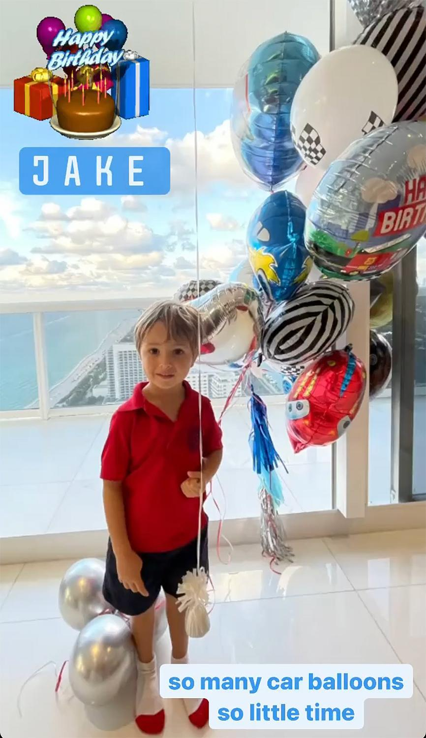 """<p>Joey Gonzalez and Jonathan Rollo's son <a href=""""https://people.com/parents/barrys-bootcamp-ceo-joey-gonzalez-husband-jonathan-rollo-welcome-son-jake-stone/"""" rel=""""nofollow noopener"""" target=""""_blank"""" data-ylk=""""slk:Jake Stone"""" class=""""link rapid-noclick-resp"""">Jake Stone</a> turned 4 on April 8.</p>"""