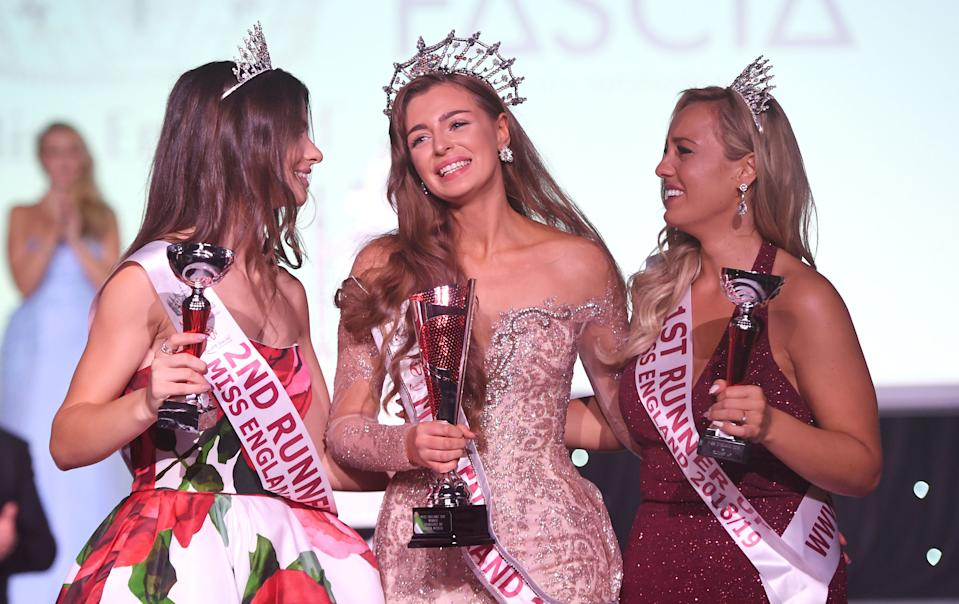 Miss Newcastle, Alisha Cowie is crowned Miss England 2018 at Kelham Hall & Country Park, Newark, Nottinghamshire.