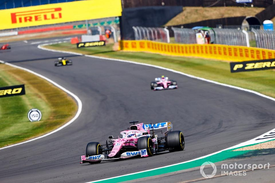"""Nico Hulkenberg, Racing Point RP20, Lance Stroll, Racing Point RP20<span class=""""copyright"""">Andy Hone / Motorsport Images</span>"""